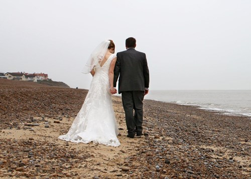 Couple on beach - Thorpeness Country Club